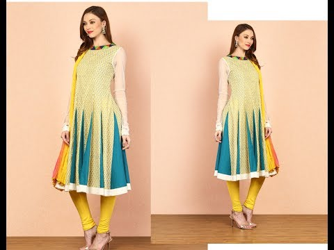 Triangular Panel Kurti /Kalidar Kurti Cutting and Stitching in Hindi