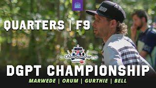 2021 Disc Golf Pro Tour Championship | QUARTERFINALS, F9 | Marwede, Orum, Gurthie, Bell | GATEKEEPER