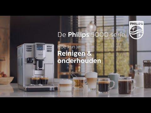 Philips EP5365 Espressomachine 5000serie Hoe maak ik de machine schoon en pleeg ik onderhoud