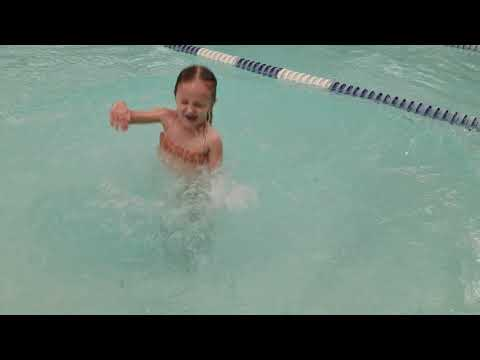 Pool jumps, toddler jumping, swimming in the pool, private swimming classes