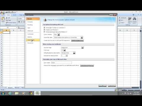 How to change the Excel 2007 Security level