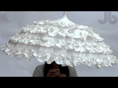 Lisbeth Dahl Cream Wedding umbrella Cream bridal pagoda