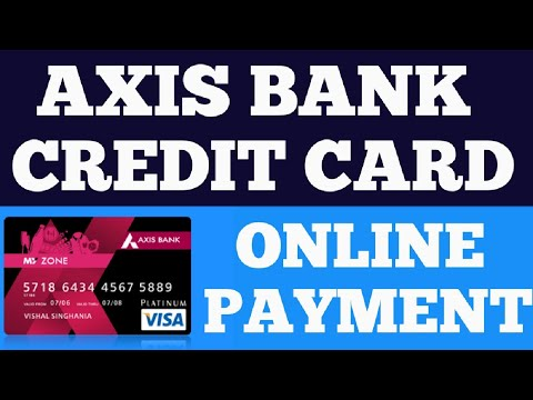 Axis bank credit card bill payment online by other bank    tech bharti   