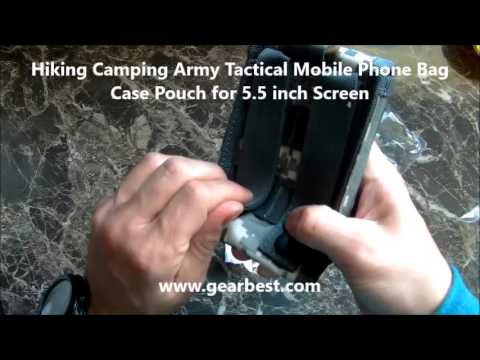 Hiking Camping Army Tactical Mobile Phone Bag Case Pouch for 5 5 inch Screen  -  www.gearbest.com