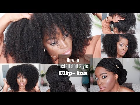 GENIUS WAYS TO INSTALL AND STYLE THE BEST CLIP IN EXTENSIONS on Short Type 4 Natural Hair