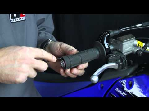How to remove a motorcycle grip undamaged