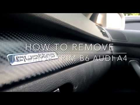 How to remove interior trim on Audi b6 b7 Audi A4