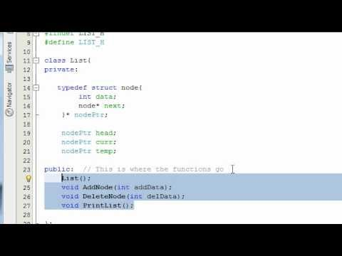Creating a Linked List Project in C++ Part 2
