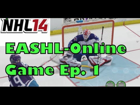 NHL 14 EASHL-Online Game- Ep. 1-Goalie Adventures