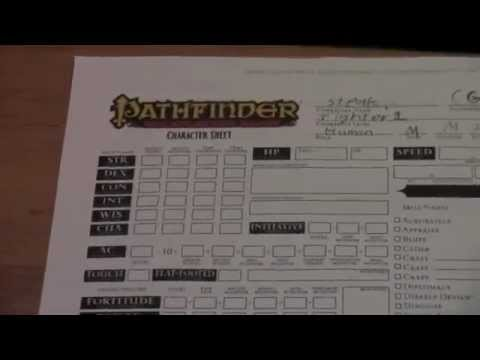 how to create a pathfinder character part 1
