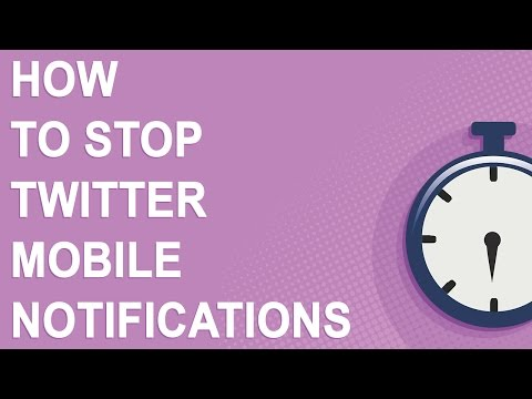 How to stop Twitter mobile notifications