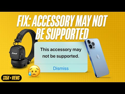 Fix: This Accessory May Not Be Supported on iPhone or iPad