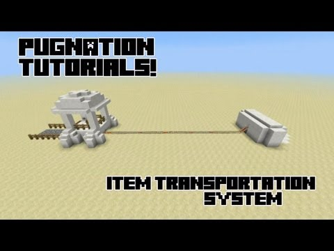 Using Hoppers, Redstone Comparators and Storage Carts to Move Items!: Minecraft How to!