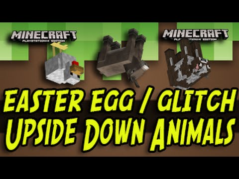 Minecraft (PS3, PS4, Xbox, Wii U) - Upside Down Animals - Glitch / Easter Egg Title Update