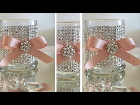 DIY | BLING CANDLE HOLDER DECOR