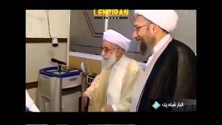 عیادت رفسنجانی، جنتی، آملی، احمدی نژاد و جهانگیری از خامنه ای در بیمارستان