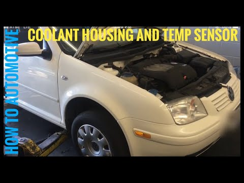How to Replace the Coolant Housing and Temp Sensor on a 2003 Volkswagen Jetta 2.0 L Engine