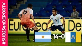 Argentina vs Islas Canarias - Goles y mejores jugadas - Amistoso
