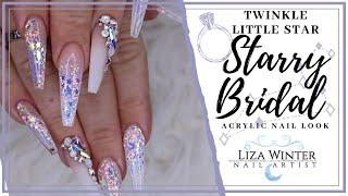 STARRY BRIDAL WEDDING NAILS   Liza Winter   LizaLiwi