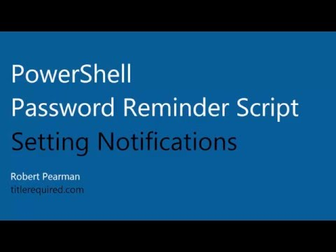 PowerShell Email Password Reminder Setting Notifications