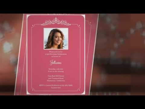 Quinceanera Invitations - Cute, Creative Cards For Cheap