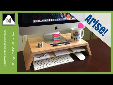 Build a SIMPLE Computer Monitor Stand