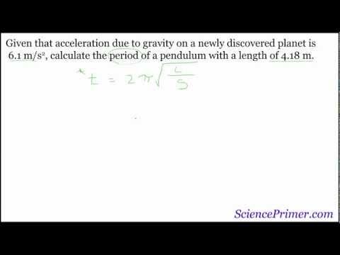 Pendulum Period example calculations