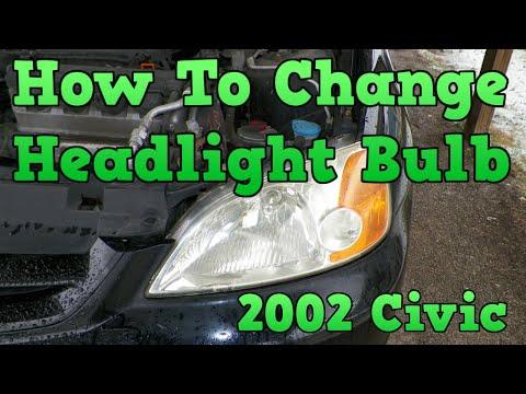 2002 Honda Civic - How To Change Headlight Bulb