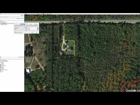 Google Earth: Use the Ruler to find square feet and acres