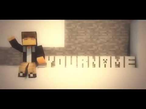 FREE Minecraft Intro Template  C4D, AE  with Minecraft Skin ! + FREE DOWNLOAD