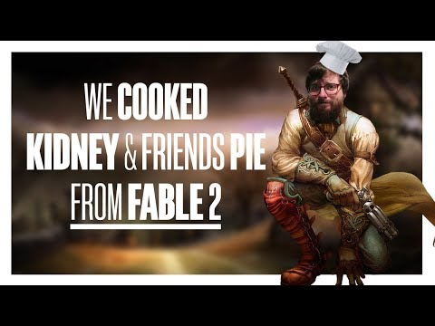 We cooked Kidney & Friends Pie from Fable 2