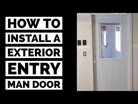 How To Install A Prehung Exterior Man Door DIY