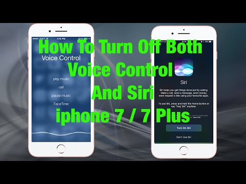 HowTo Turn Off Siri And Voice Control Completely iPhone 7 / 7 Plus