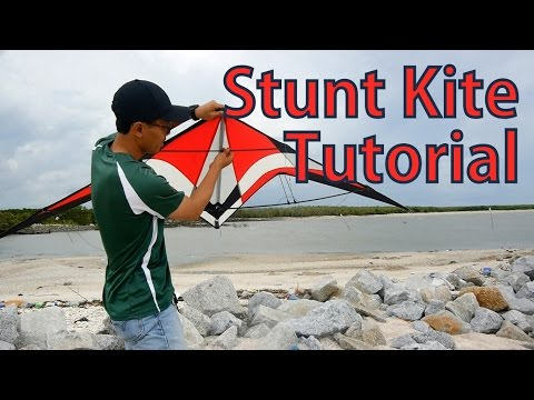How To Assembly and Fly A Stunt Kite   Beginning