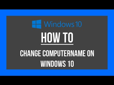 How to change computername on Windows 10
