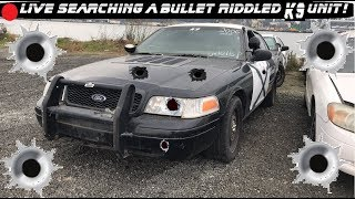 🔴 LIVE Searching a Bullet Riddled K9 Crown Vic Police Car