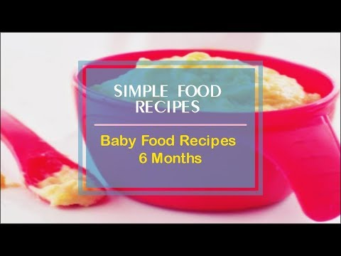 Baby Food Recipes 6 Months