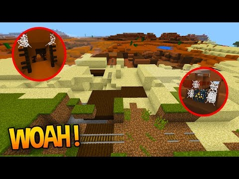 GLITCHED MINESHAFT, RAVINE and MIXED BIOMES! (Minecraft Seed Review)