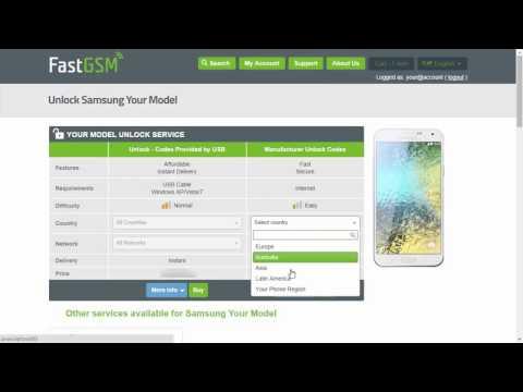 How To Unlock Samsung Galaxy E7 by Unlock Code