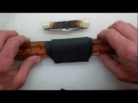 Making a simple belt pocket knife sheath