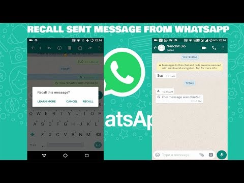 How to unsend / recall Sent Messages in Whats App Using Hidden recall feature