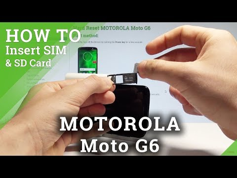 How to Insert SIM and SD in MOTOROLA Moto G6 - Set Up SIM & SD  HardReset.Info