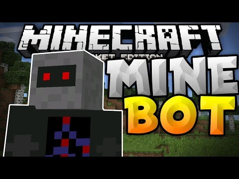 PERSONAL ASSISTANT MOD for MCPE - MineBot iOS & Android - Minecraft PE (Pocket Edition)