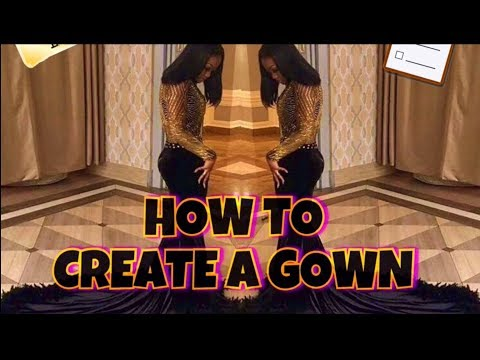 HOW TO MAKE A GOWN \ PART 2 - The Train !!