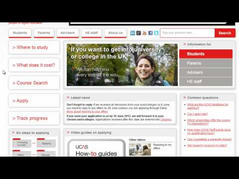 Searching for midwifery courses with UCAS