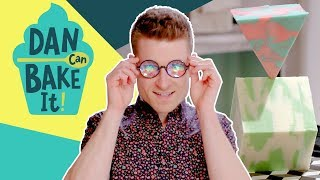Dan Bakes an Optical Illusion Cake ✨Challenge #1