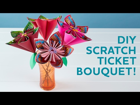 How to Make a Valentine's Day Bouquet with Scratch Tickets