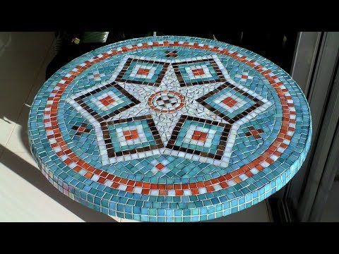 DIY Mosaic Garden Table | Design, Glue, Grout & Finish