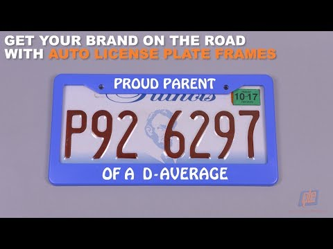 Get Your Brand on the Road with Auto License Plate Frames