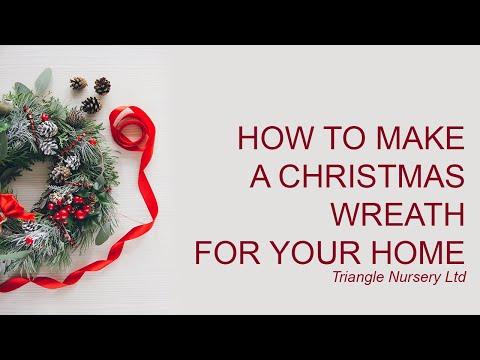 DIY How to Make a Christmas Wreath